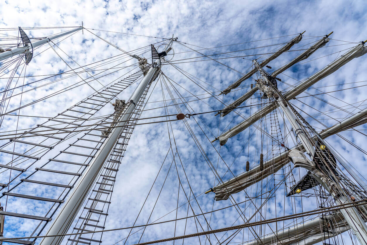 upward view of a sail boats masts - top rated benefit plan design services provider hingham mass